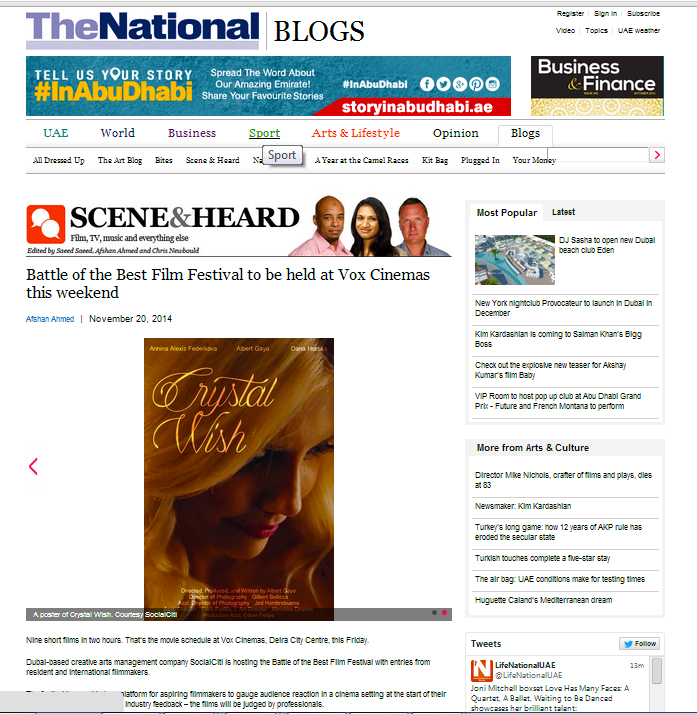Battle Of The Best Film Fest Press Coverage The National